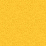 Linie Art Happy New Year Seamless-Gelb-Muster Lizenzfreies Stockfoto