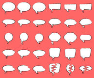 Linie Art Speech Bubbles Lizenzfreie Stockfotos