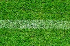 Linie auf grünem Feld Lizenzfreies Stockbild