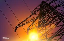 Linie der elektrischen Energieübertragung Lizenzfreies Stockfoto