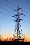 Linie der elektrischen Energieübertragung, Lizenzfreies Stockbild