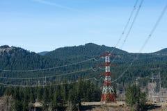 Linie der elektrischen Leistung Lizenzfreie Stockbilder