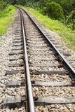 Linie des Bahnübergangs in ländlichem von Thailand Lizenzfreies Stockfoto