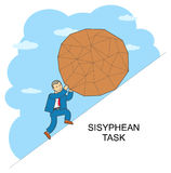 Linie Design Sisyphus vektor abbildung