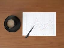 Linie Diagramm Lizenzfreie Stockbilder