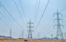 linie elektryczne Obraz Stock