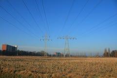 linie energetyczne Zdjęcia Royalty Free