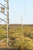 Linie Energetyczne Afryka Obraz Stock