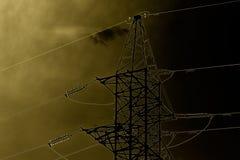 Linie energetyczne przeciw nieba światła nakreśleniu Zdjęcia Royalty Free
