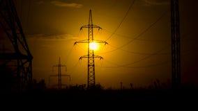 Linie energetyczne w położenia słońcu zdjęcie wideo