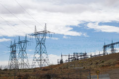 linie energii elektrycznej Obrazy Stock