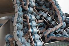 Linie Förderer-alte industrielle oder Fertigungsindustrie Lizenzfreie Stockfotos