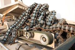 Linie Förderer-alte industrielle oder Fertigungsindustrie Stockbilder