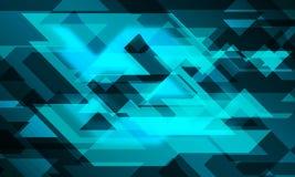 Linie glühender Hintergrund des Dreiecks 3D stock abbildung