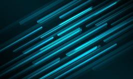 Linie glühender Hintergrund des Würfels 3D stock abbildung