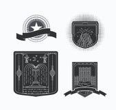 Linie grafische Embleme Lizenzfreie Stockfotos