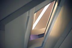 Linie i kąty nowożytny tulejowy schody Obrazy Stock