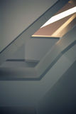 Linie i kąty nowożytny tulejowy schody Fotografia Stock