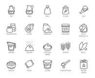20 Linie Ikonen auf Kochenthema Entwurfslogo lokalisiert auf weißem Hintergrund Editable Anschlag Pixel 48x48 perfekt Stockbild