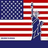 Linie Ikonen-Land Amerika Stockfotos