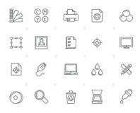 Linie Internet, Netz und bewegliche Ikonen Lizenzfreies Stockbild