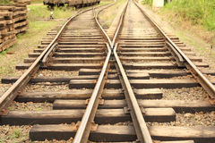 Linie kolejowe Obrazy Royalty Free