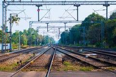 Linie kolejowe Indiańskie koleje Obrazy Royalty Free