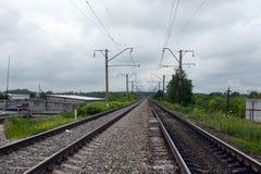 Linie kolejowe Moskwa kolej Zdjęcia Royalty Free