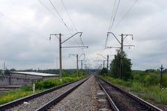 Linie kolejowe Moskwa kolej Fotografia Royalty Free