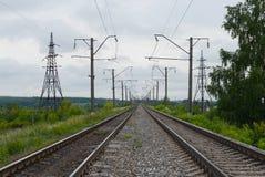 Linie kolejowe Moskwa kolej Zdjęcie Stock