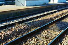 Linie kolejowe, tło, Treviso, Veneto, Włochy, Europa Obraz Stock