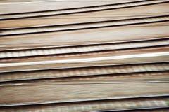 Linie kolejowe w ruch plamie Obraz Stock