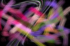linie Kolorowe kreatywnie linie, figlarnie tło Zdjęcia Royalty Free
