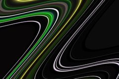 linie Kolorowe kreatywnie phosphorescent ciemne linie, figlarnie tło Fotografia Stock