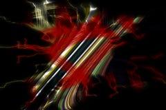 linie Kolorowej iskrzastej kreatywnie złocistej czerwieni zieleni srebrzyste pomarańczowe ciemne linie, figlarnie tło Obrazy Stock