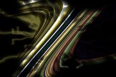 linie Kolorowej iskrzastej kreatywnie złocistej szarości zieleni srebrzyste pomarańczowe ciemne linie, figlarnie tło Obraz Stock
