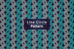 Linie Kreis-Vektor-Muster-Hintergrund stock abbildung