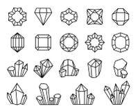 Linie Kristalle Formen kostbare Entwurfsdiamanten des Mineraledelsteinedelsteinstein-Juwels Luxuskristall, Stalagmit zu kristalli lizenzfreie abbildung