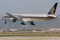 linie lotnicze Boeing Singapore Obrazy Stock