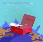 Linie lotnicze Podróżują dookoła świata Zdjęcia Royalty Free
