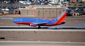 linie lotnicze tryskają południowych zachody fotografia stock