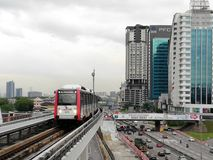 Linie Malaysias LRT Ampang Stockbild