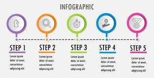 Linie minimale Infographic-Entwurfsschablone lizenzfreie abbildung