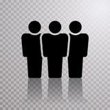 Linie mit drei Leuten stock abbildung