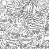 Linie nahtloses Muster Geometrische Verzierung des abstrakten Gekritzels Stockfotos