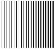 Linie od cienkiego gęsty Set 22 prosty, równoległy vertical ilustracji