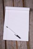 linie oddechu notepad prawnego white Zdjęcia Stock