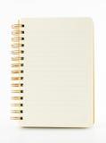 Linie Papiernotizbuch lokalisiert auf weißem Hintergrund Lizenzfreies Stockbild