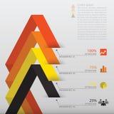 Linie Pfeil-Geschäft Infographic Lizenzfreies Stockbild