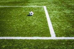 Linie piłki nożnej pole. Fotografia Royalty Free